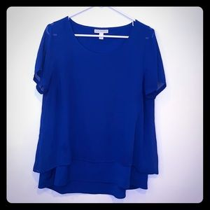 Beautiful blue  layered blouse